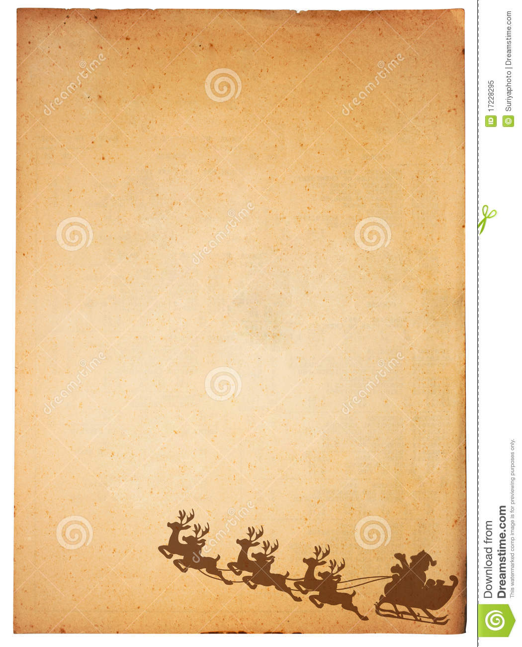 Vintage Paper And Santa Claus Royalty Free Stock Photo