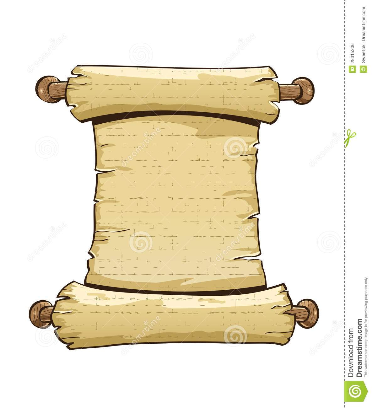 Antique Scroll Paper: Vintage Paper Scroll Royalty Free Stock Image