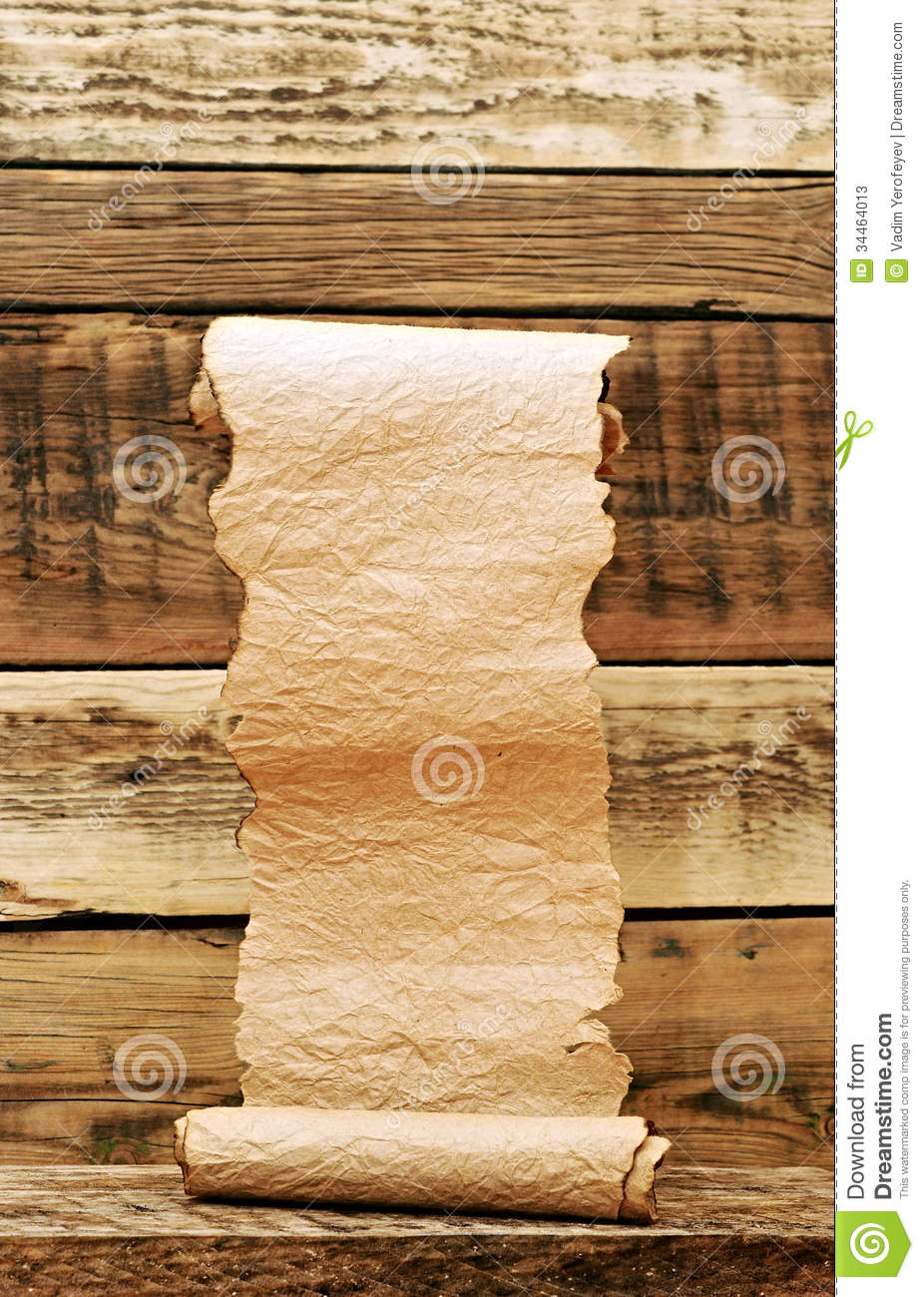 Vintage Paper Scroll Stock Photos Image 34464013