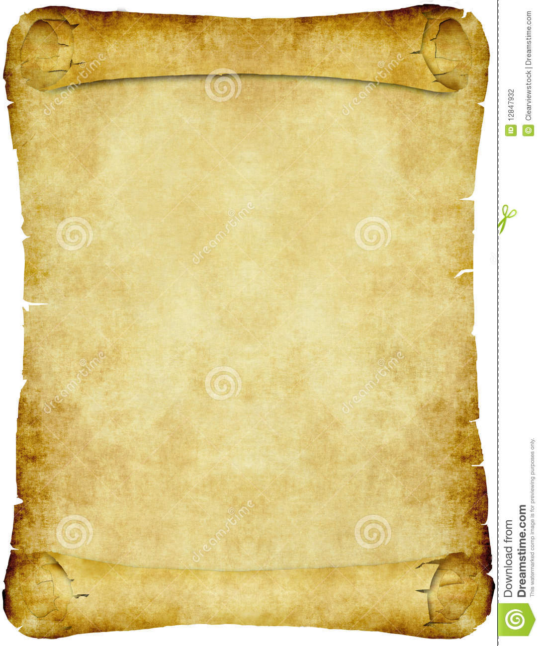 Antique Scrollimgs: Vintage Parchment Paper Scroll Stock Vector