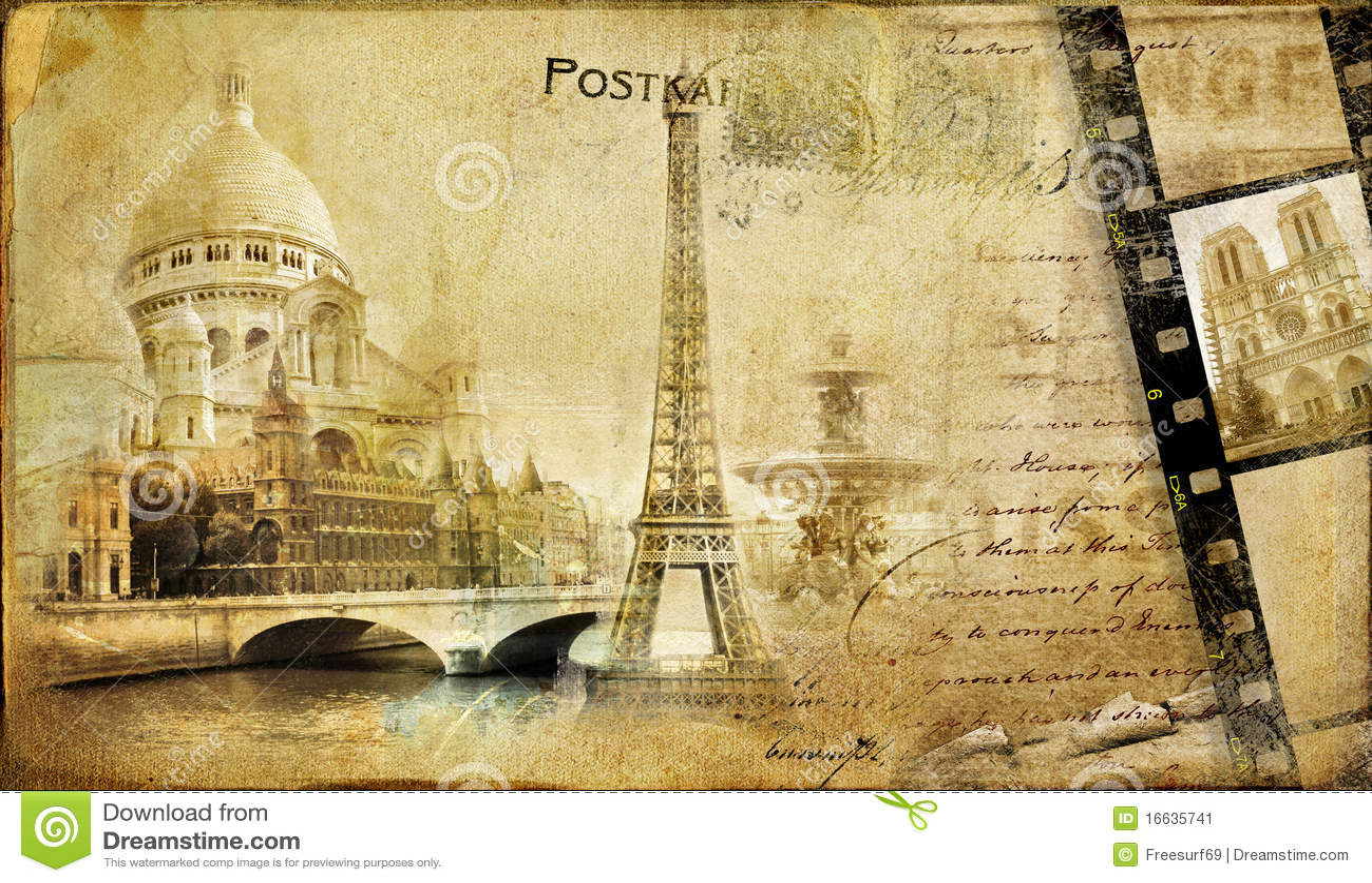 vintage parisian almum stock image image 16635741