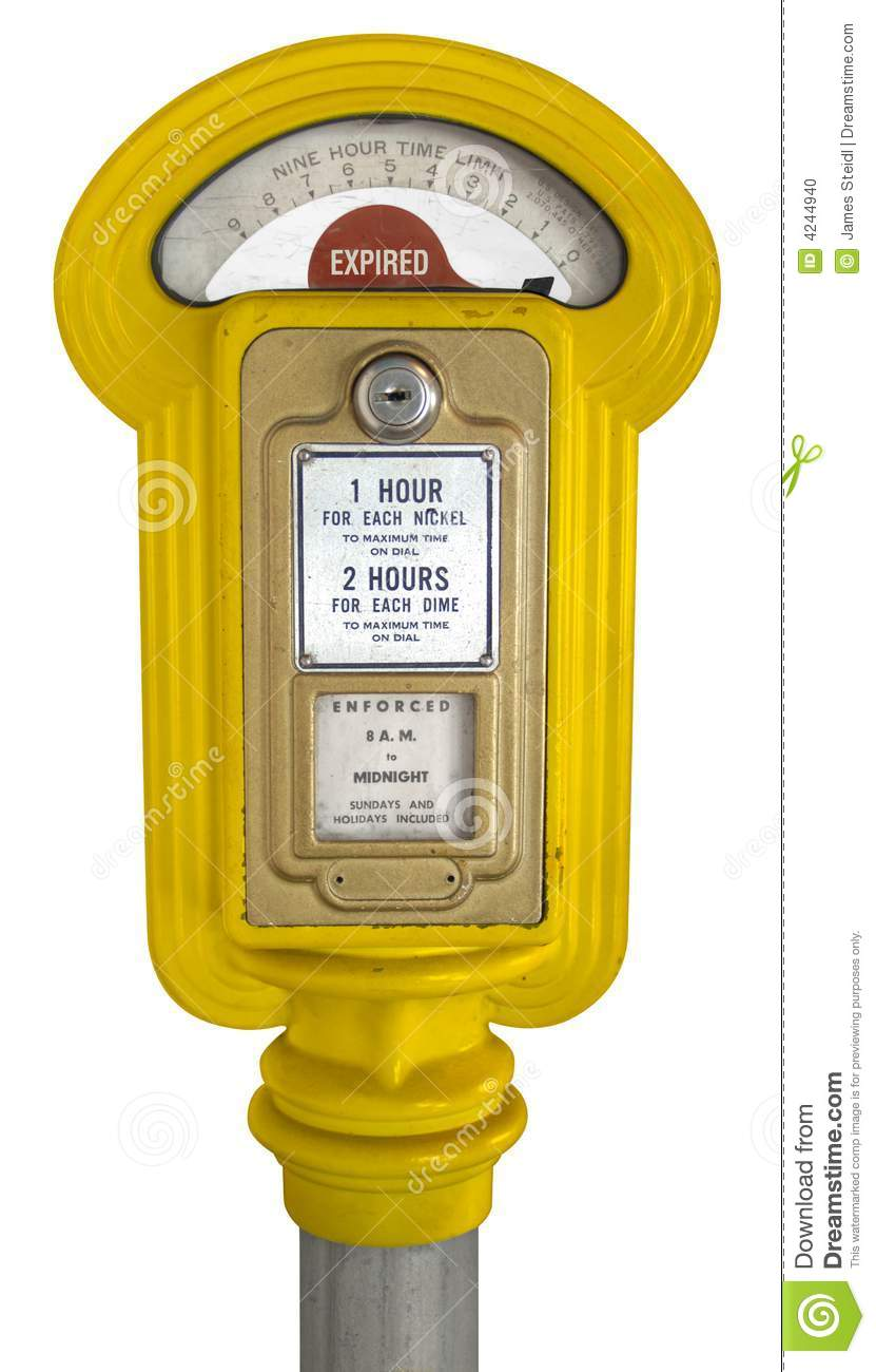Vintage Hour Meter : Vintage parking meter stock photo image of hour