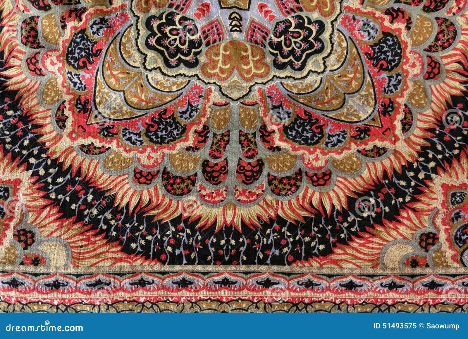 Vintage Gypsy Pattern Design Fabric