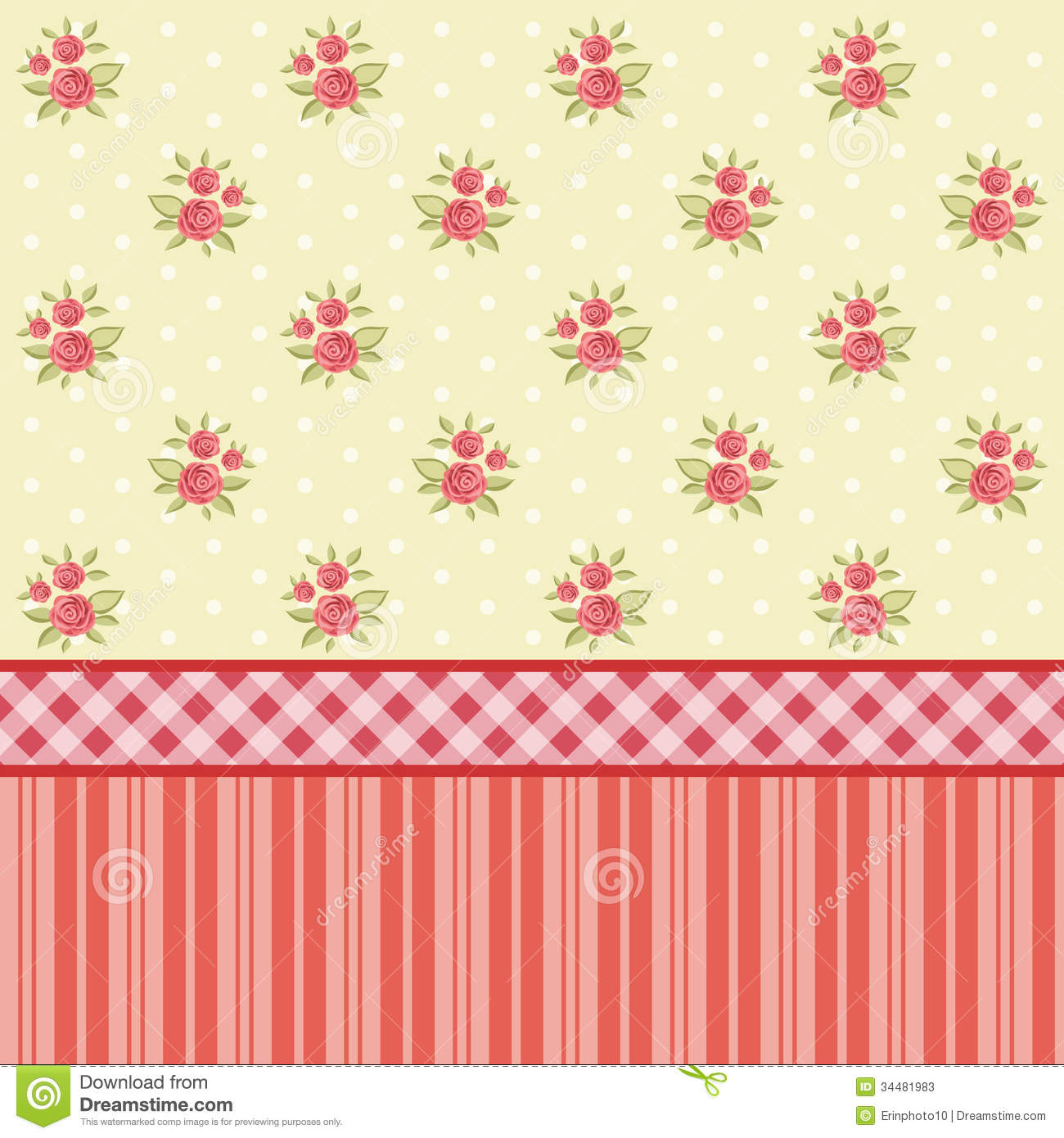 Striped fabric brown raspberry