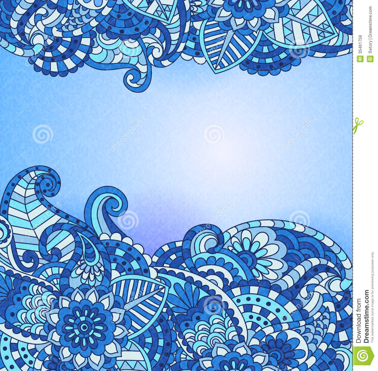 Vintage pattern stock vector. Image of doodle, card ...