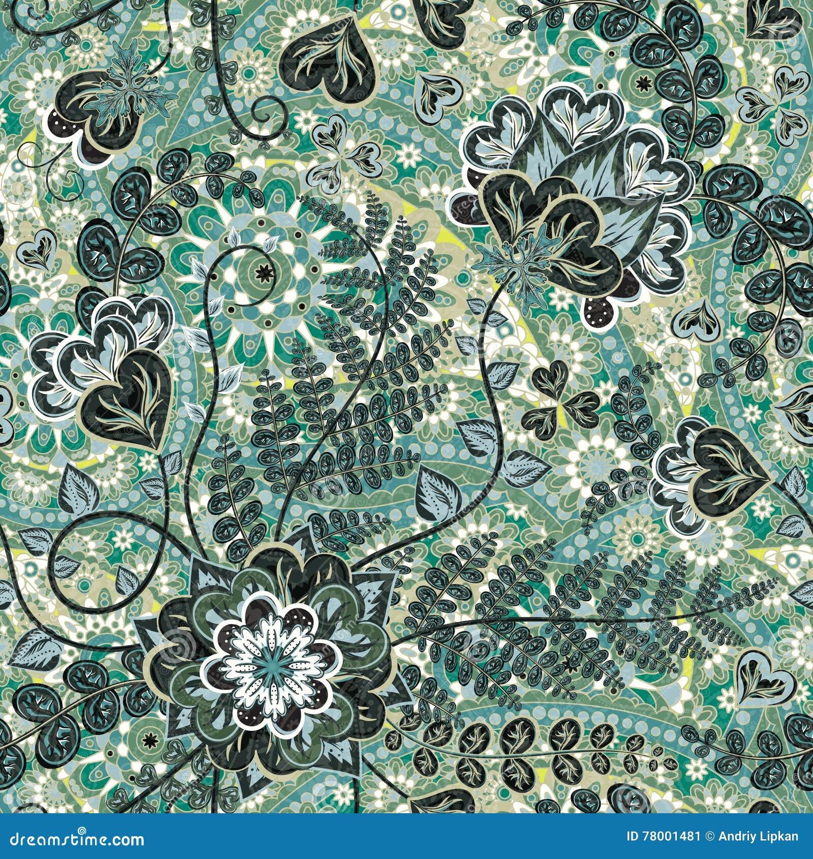Batik design royalty free stock photos image 29546988 - Vintage Pattern In Indian Batik Style Floral Vector Background Stock Image