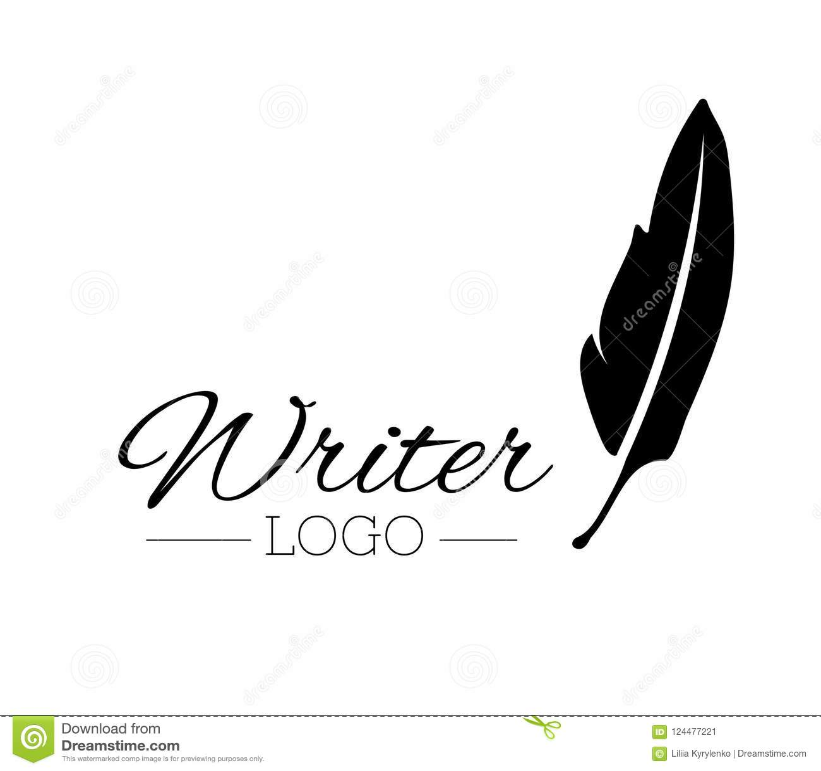 Vintage Pen Feather Writer Symbol Literature Icon Diary Sign