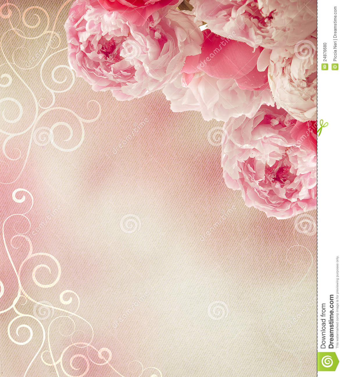 Vintage Peonies Frame Stock Photo Image Of Floral Plant