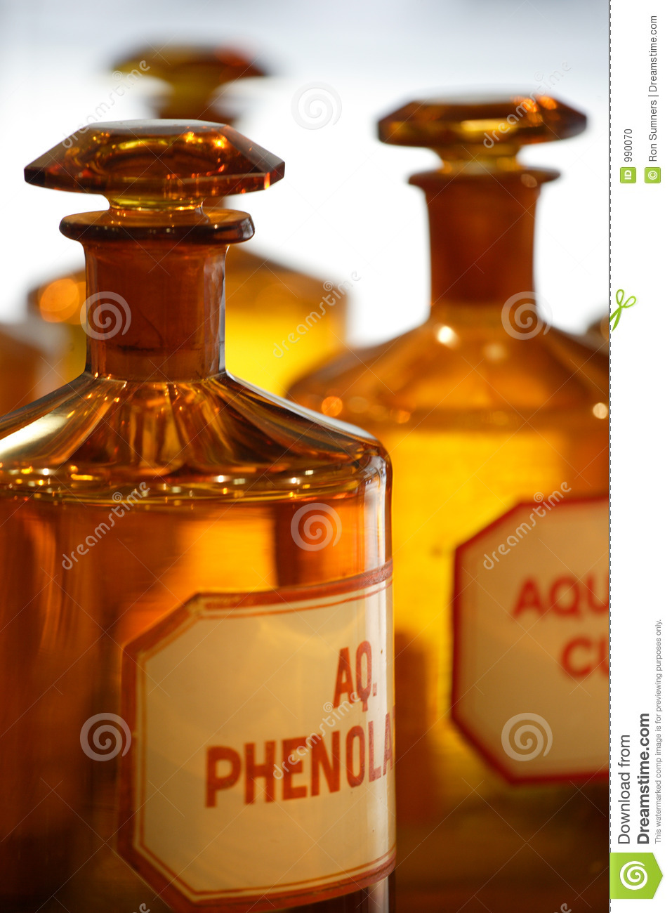 Vintage Pharmacy Bottles Stock Photo Image Of Chemical