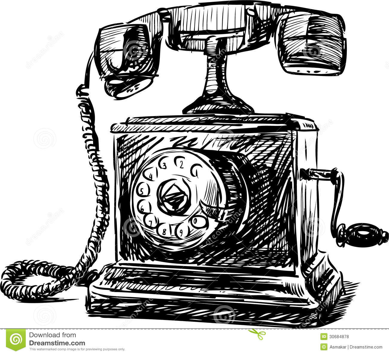 clip art antique phone - photo #50