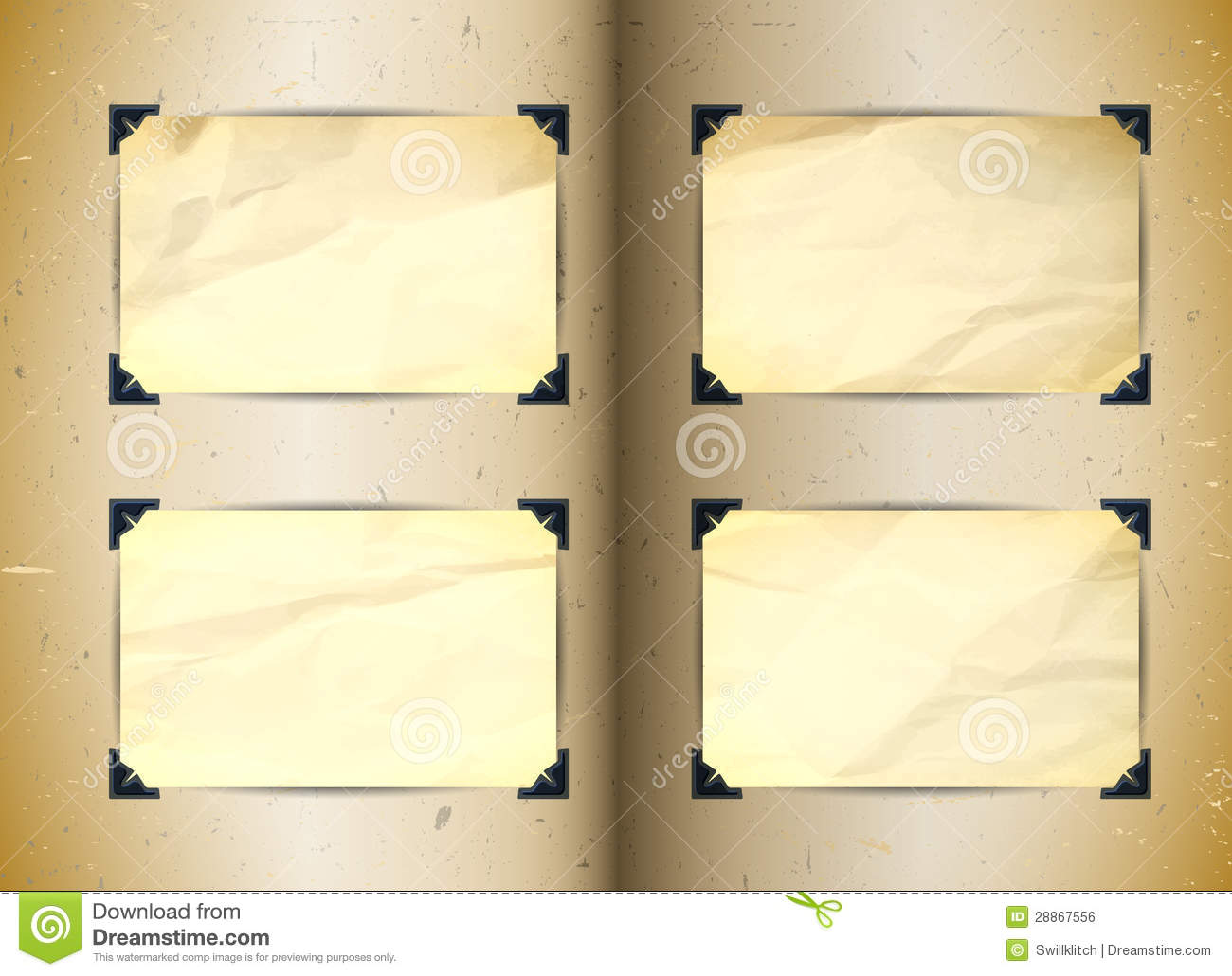 Vintage Photo Album Stock Vector Illustration Of Memory 28867556