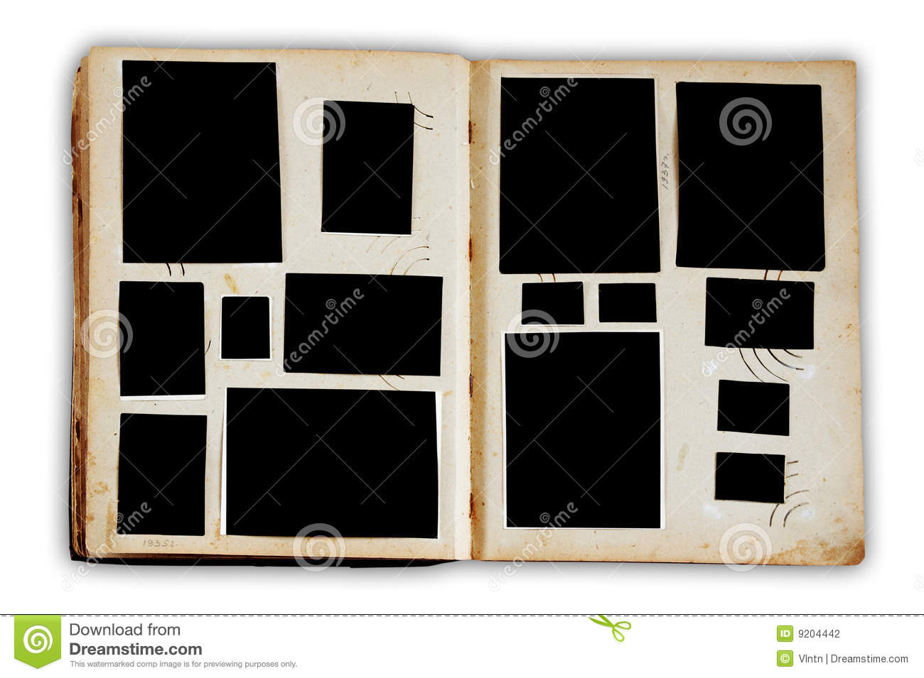 vintage photo album stock photo image of retro album 9204442. Black Bedroom Furniture Sets. Home Design Ideas