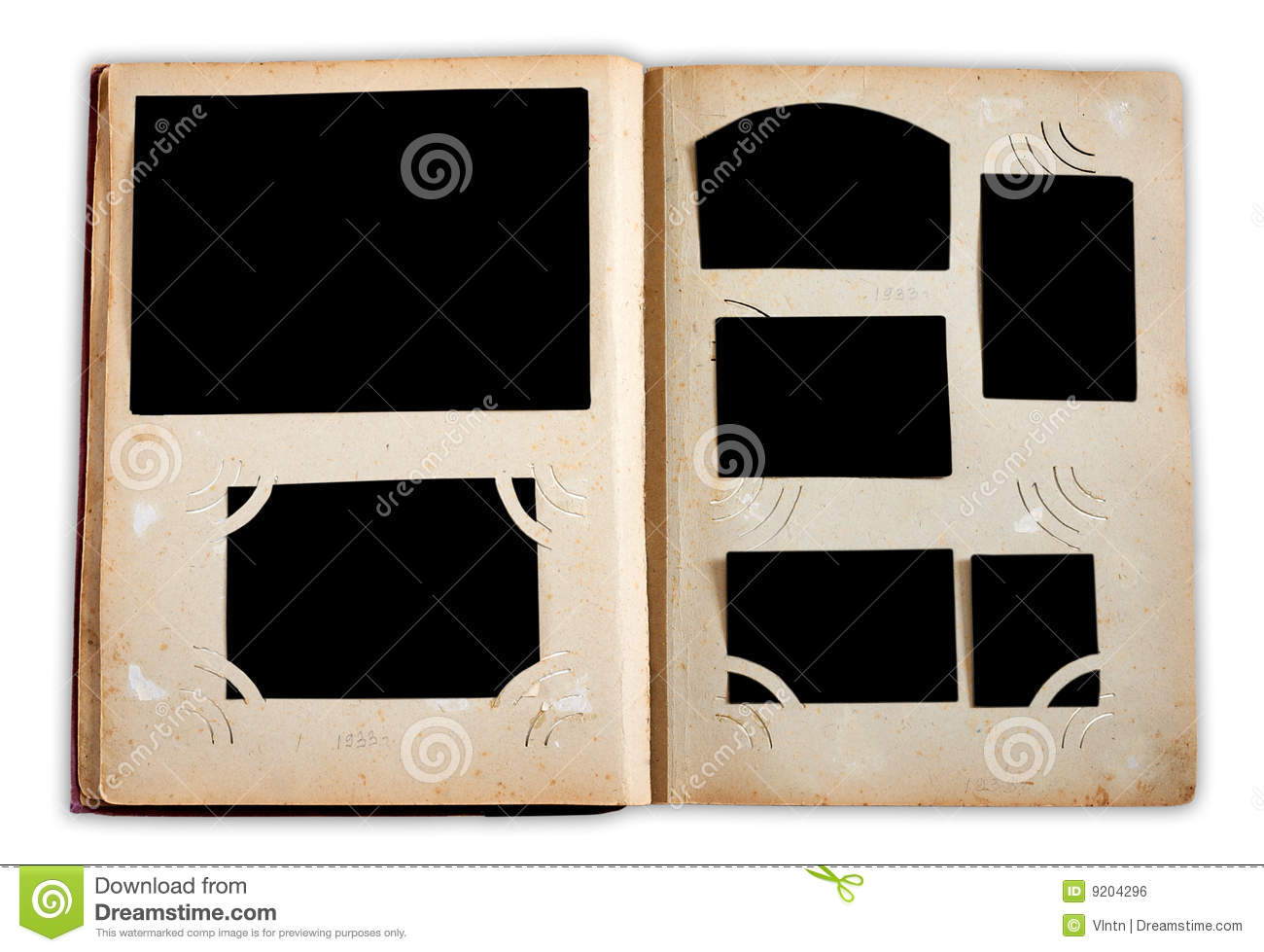 vintage photo album pages stock photo image of vintage 9204296. Black Bedroom Furniture Sets. Home Design Ideas
