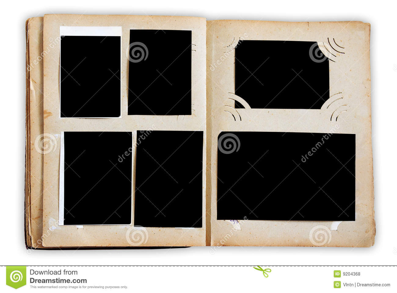 vintage photo album pages stock photo image of rough. Black Bedroom Furniture Sets. Home Design Ideas