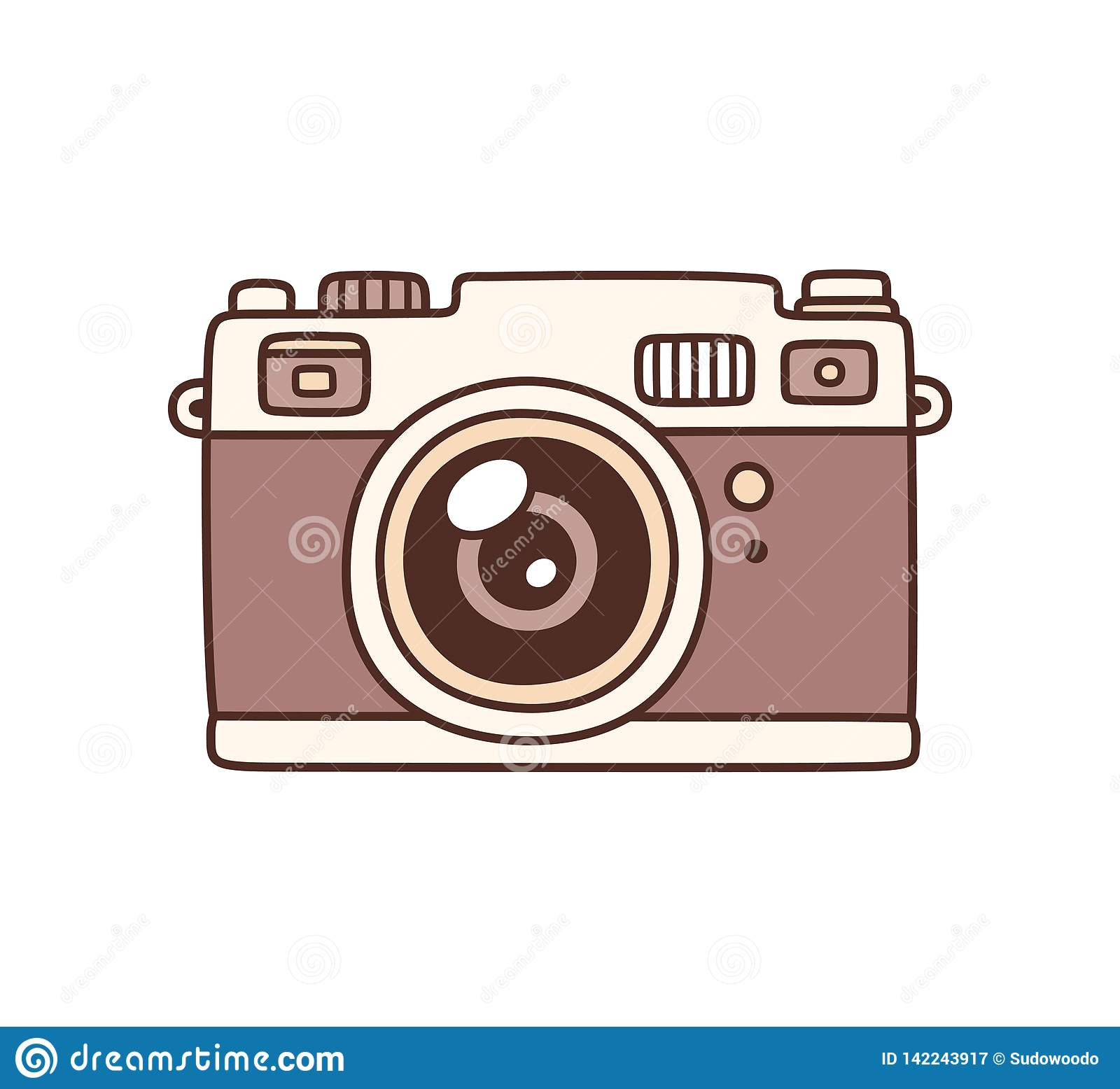 Vintage Photo Camera Stock Vector Illustration Of Doodle 142243917