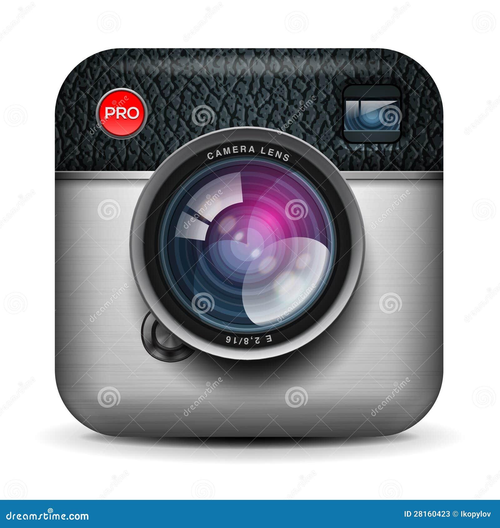 Vintage photo camera icon, vector Eps10 image