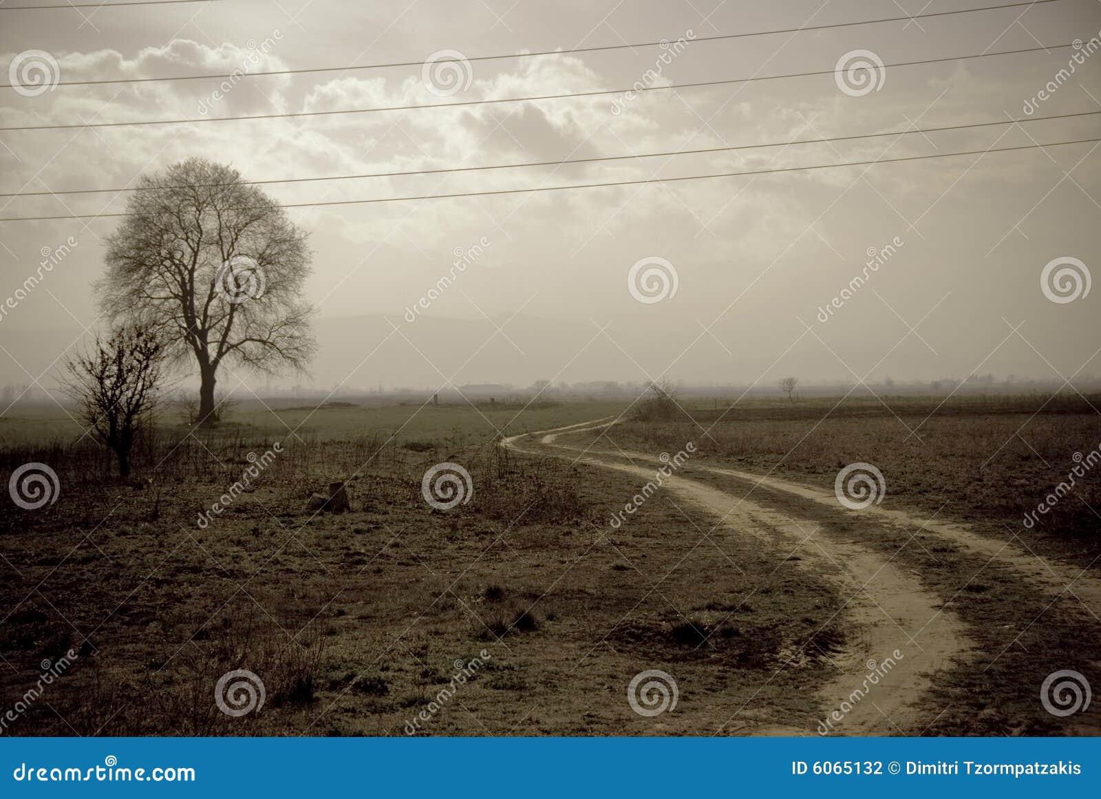 Vintage Photo Landscape Stock Photography - Image: 6065132
