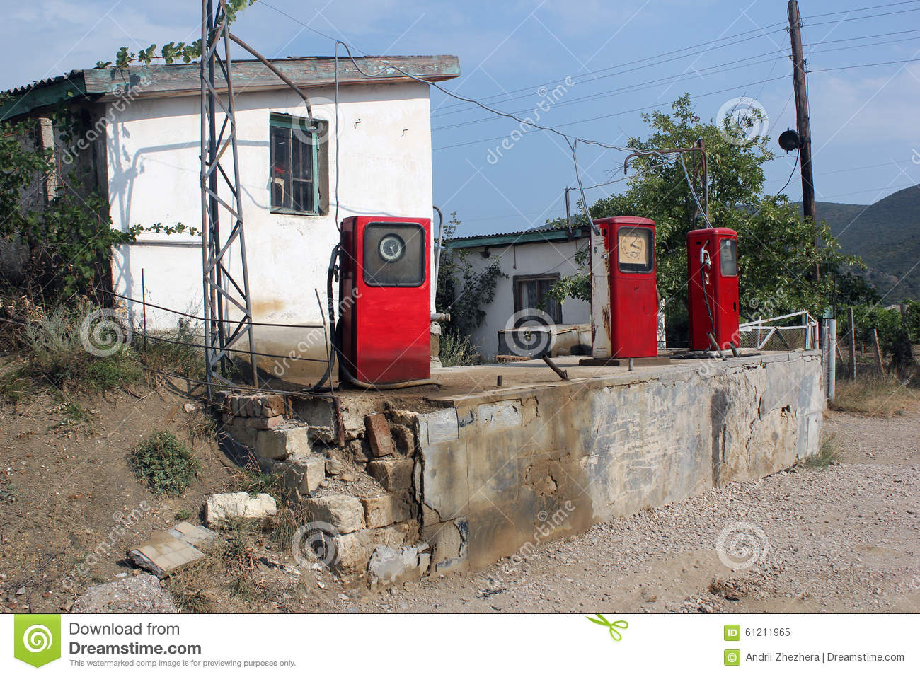 Vintage Photo Of Old Abandoned Gas Station With Pumps Ukraine Stock Image Image Of Power Energy 61211965