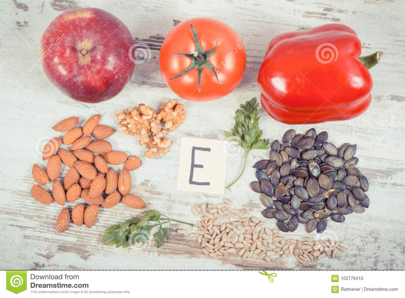 Vitamin E and products containing: a selection of sites