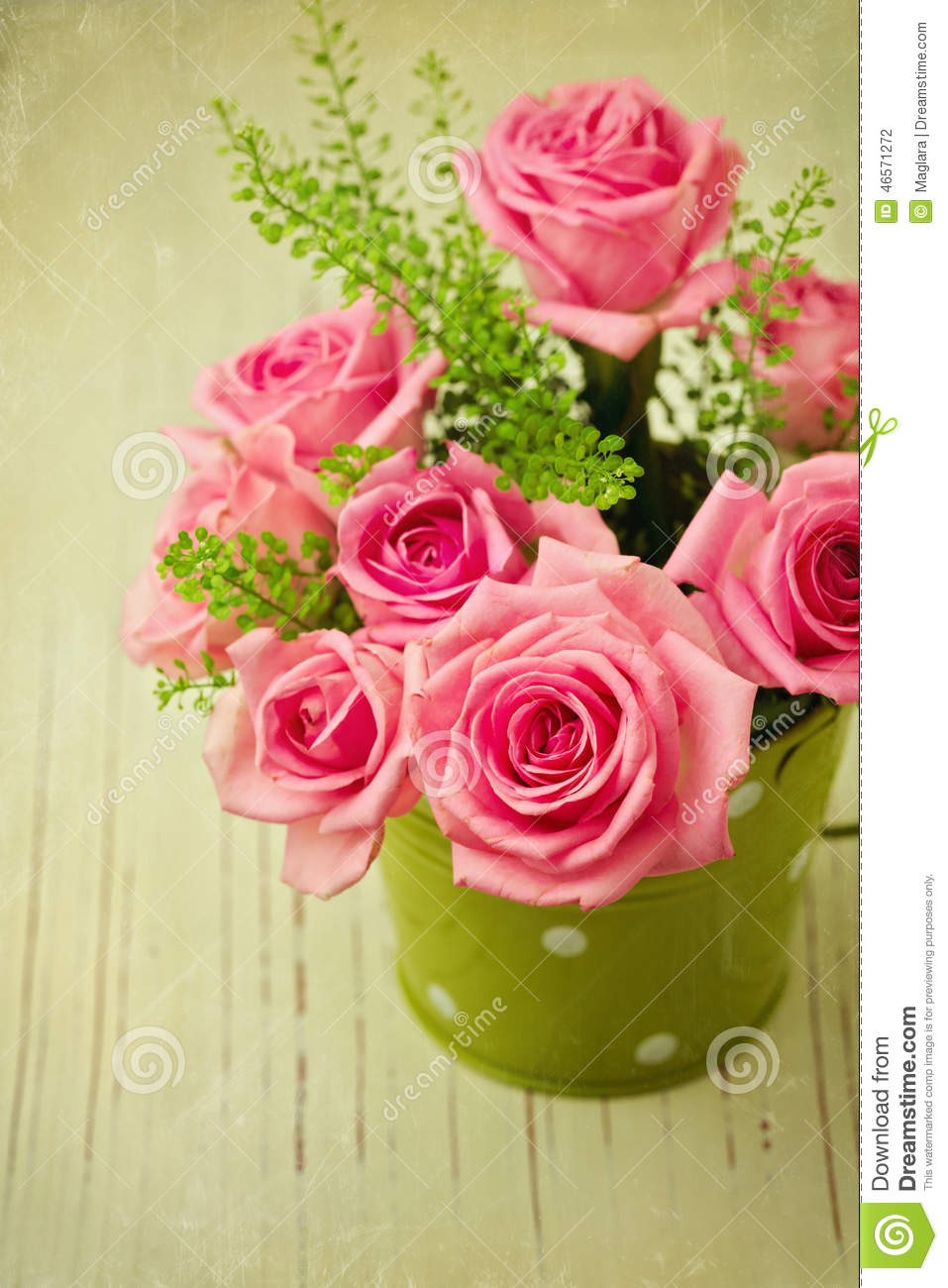 Vintage Photo Of Rose Flower Bouquet Stock Photo - Image of rose ...