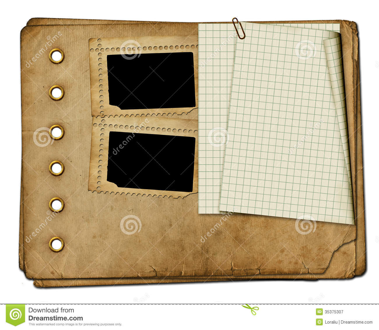 Vintage Photoalbum For Photos Royalty Free Stock Photography ...