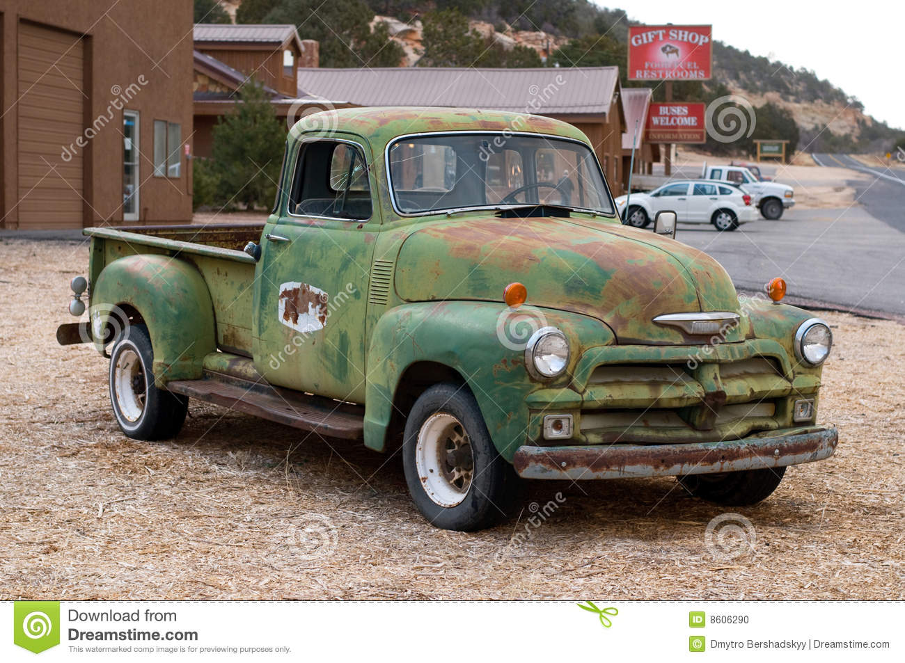 Vintage Pick-Up Truck Stock Photo 8606290 - Megapixl
