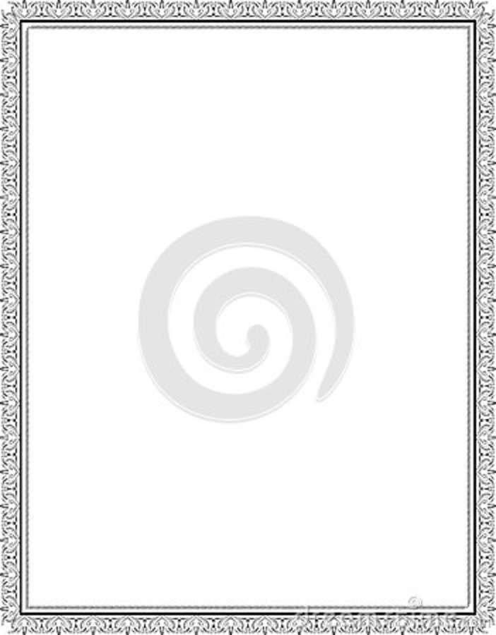 Vintage Picture Frame For Certificates, Diplomas Stock Vector ...