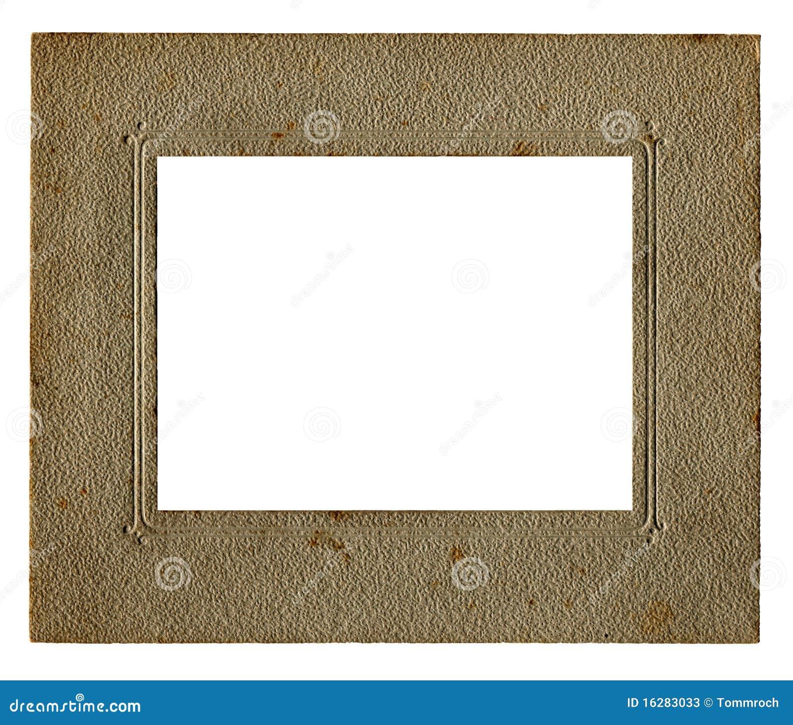 Vintage White Frame : Vintage Picture Frame And White Inner Stock Photos - Image: 16283033