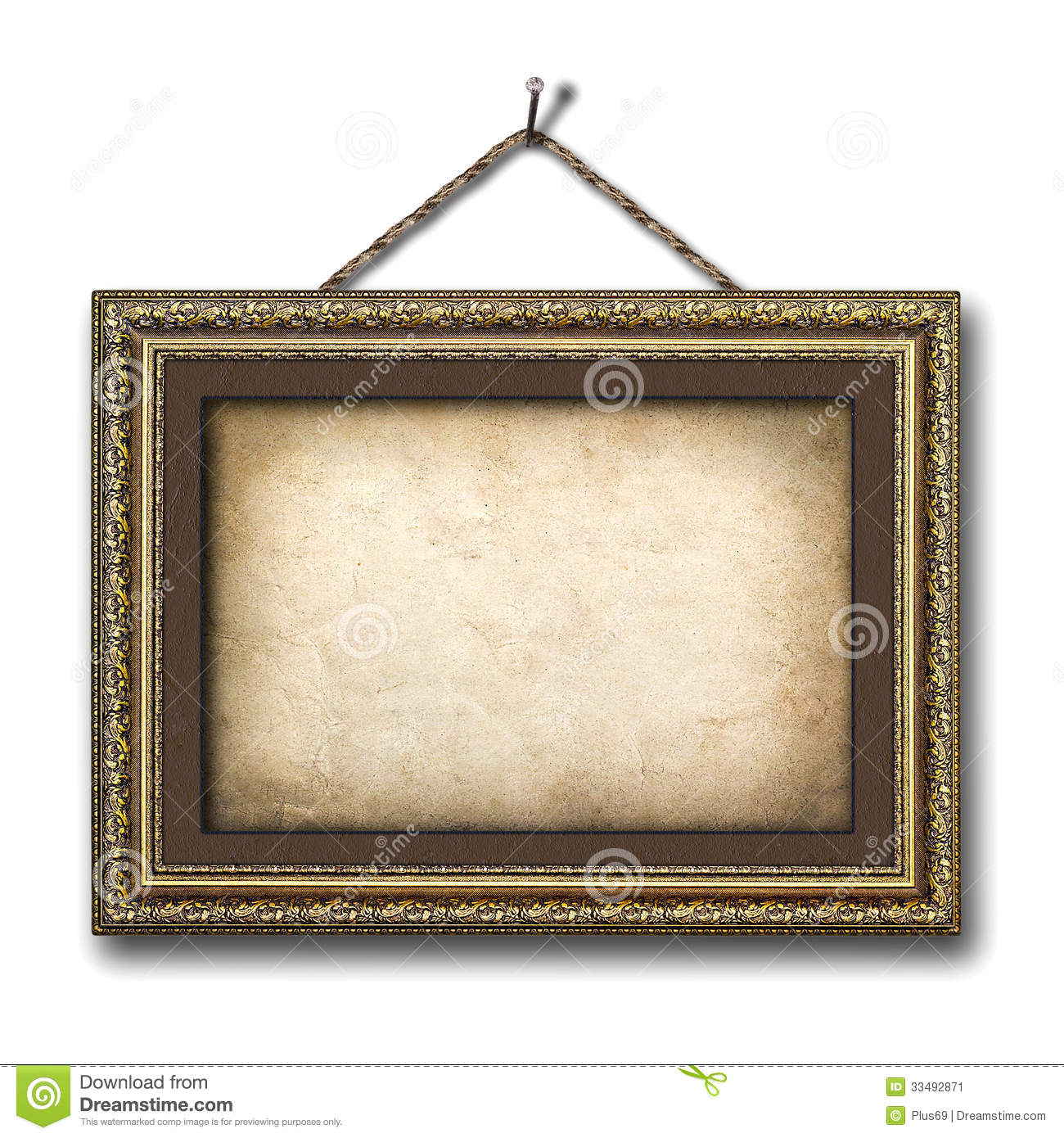 Vintage White Frame : Vintage Picture Frame On The White Isolated Background Stock Image ...