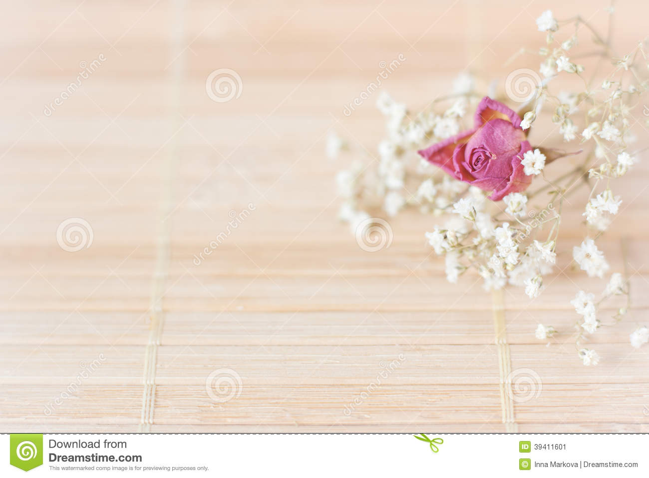 Vintage Picture Nice Soft Background Small Flowers Stock