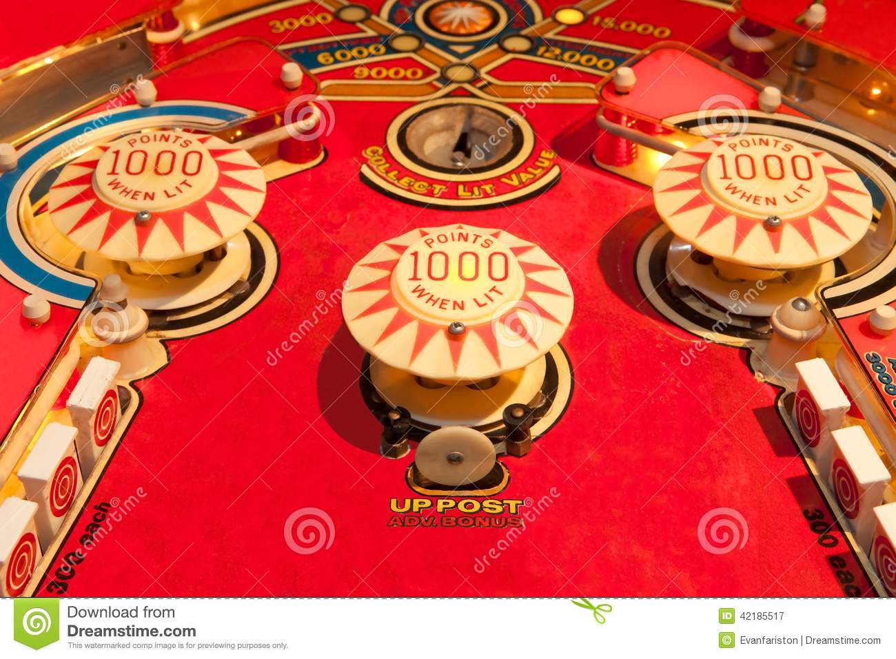 Vintage Pinball Machine Stock Image Image Of Pinball