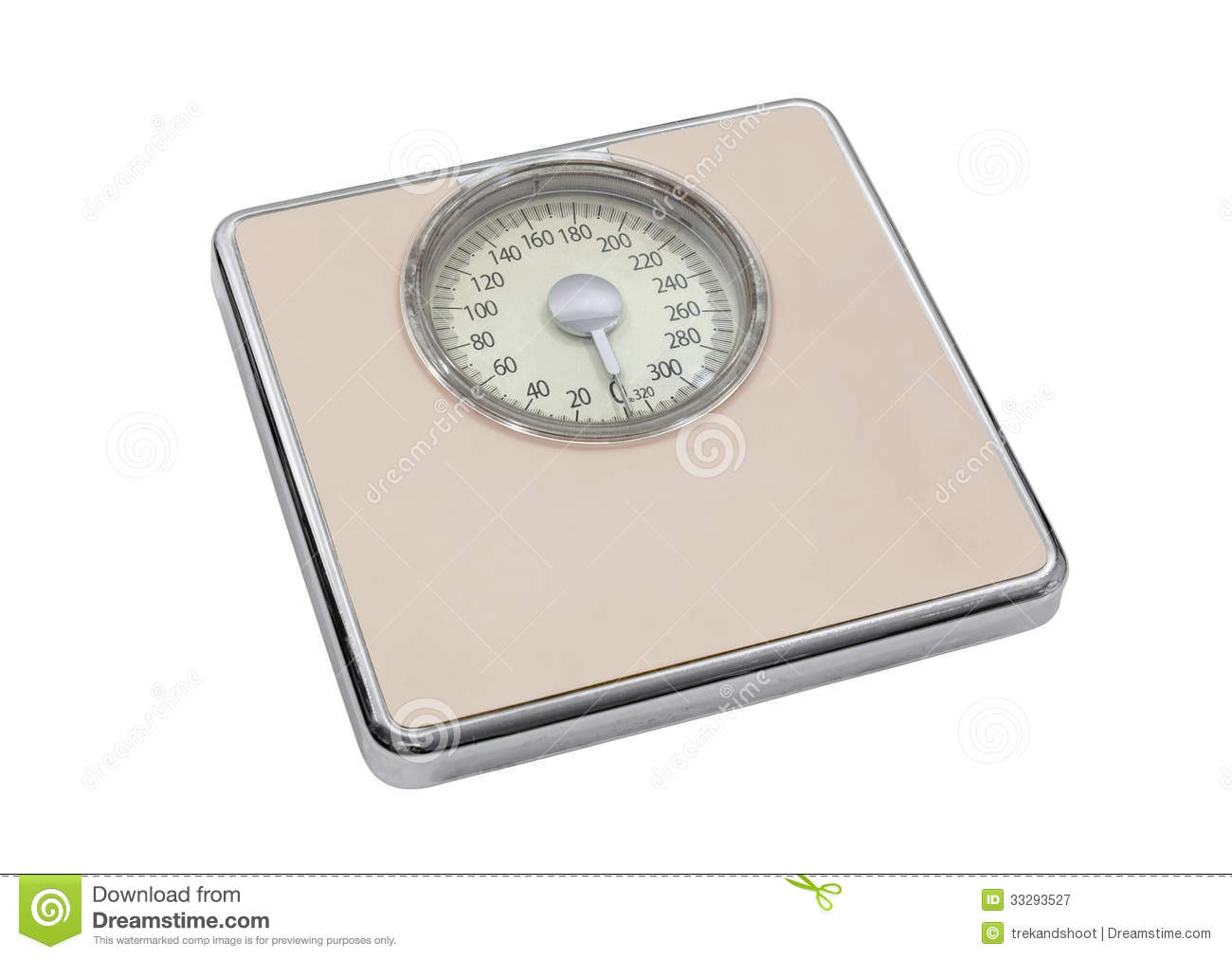Retro bathroom scales - Bathroom Clipping Isolated Path Pink Scale Vintage