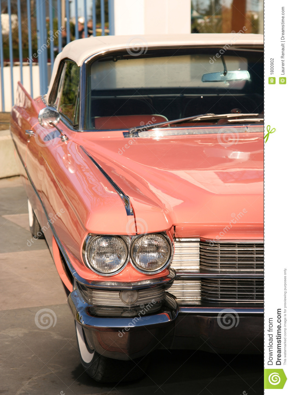 Old Fashioned Cars >> Vintage pink car stock photo. Image of bumper, retro, headlight - 1800902