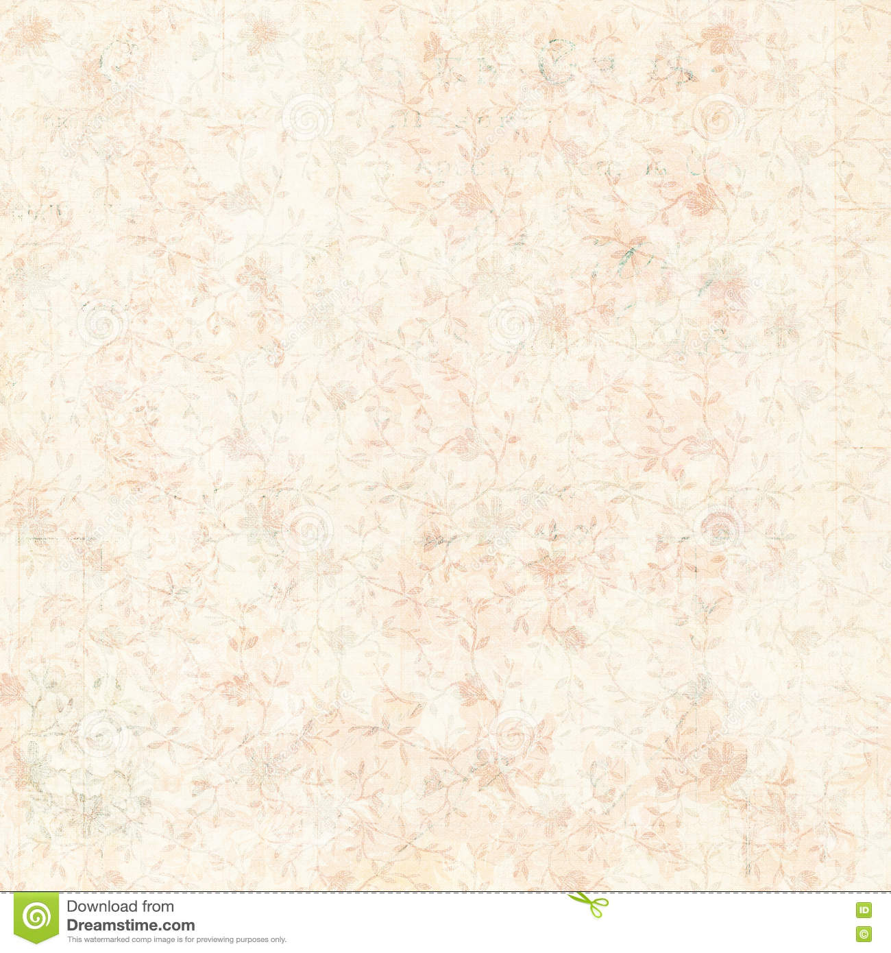 Vintage Pink And Cream Grungy Faded Shabby Chic Abstract