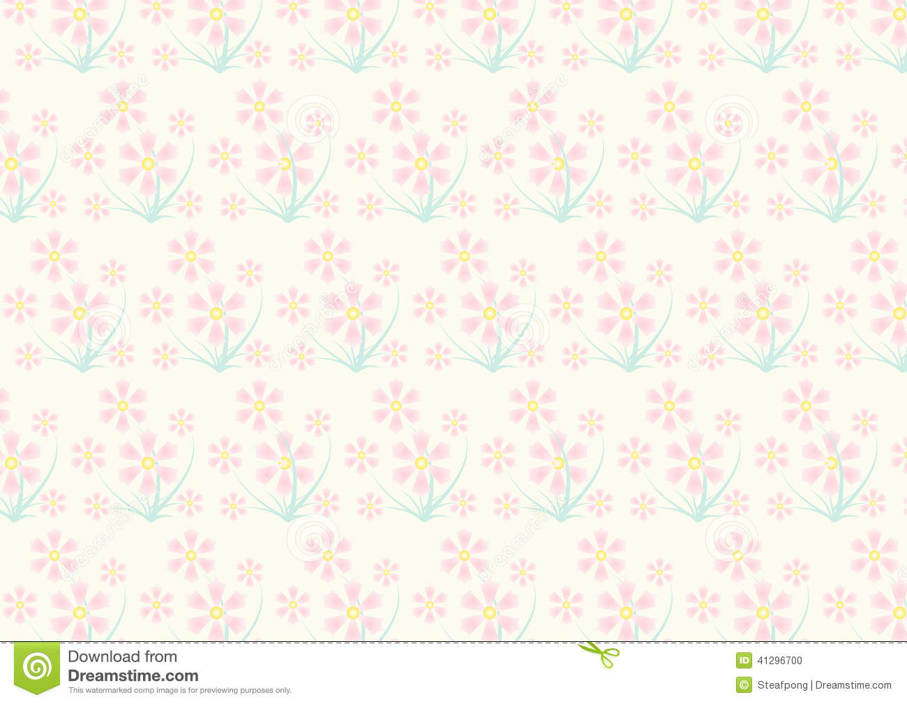 vintage pink flower pattern on pastel color stock vector. Black Bedroom Furniture Sets. Home Design Ideas