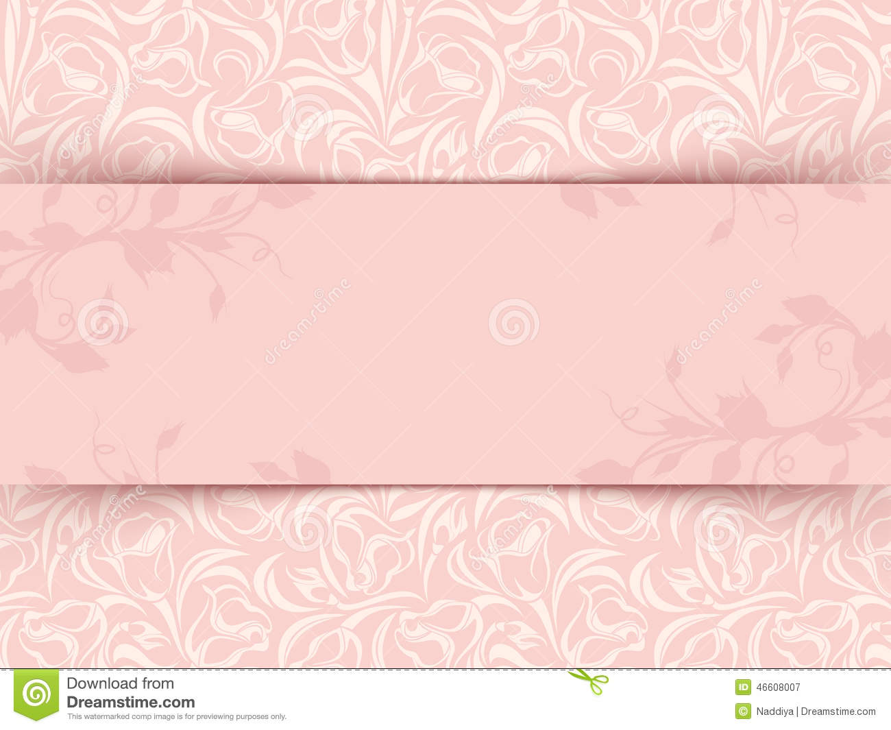 Vintage pink invitation card with floral pattern vector eps 10 download comp stopboris Choice Image