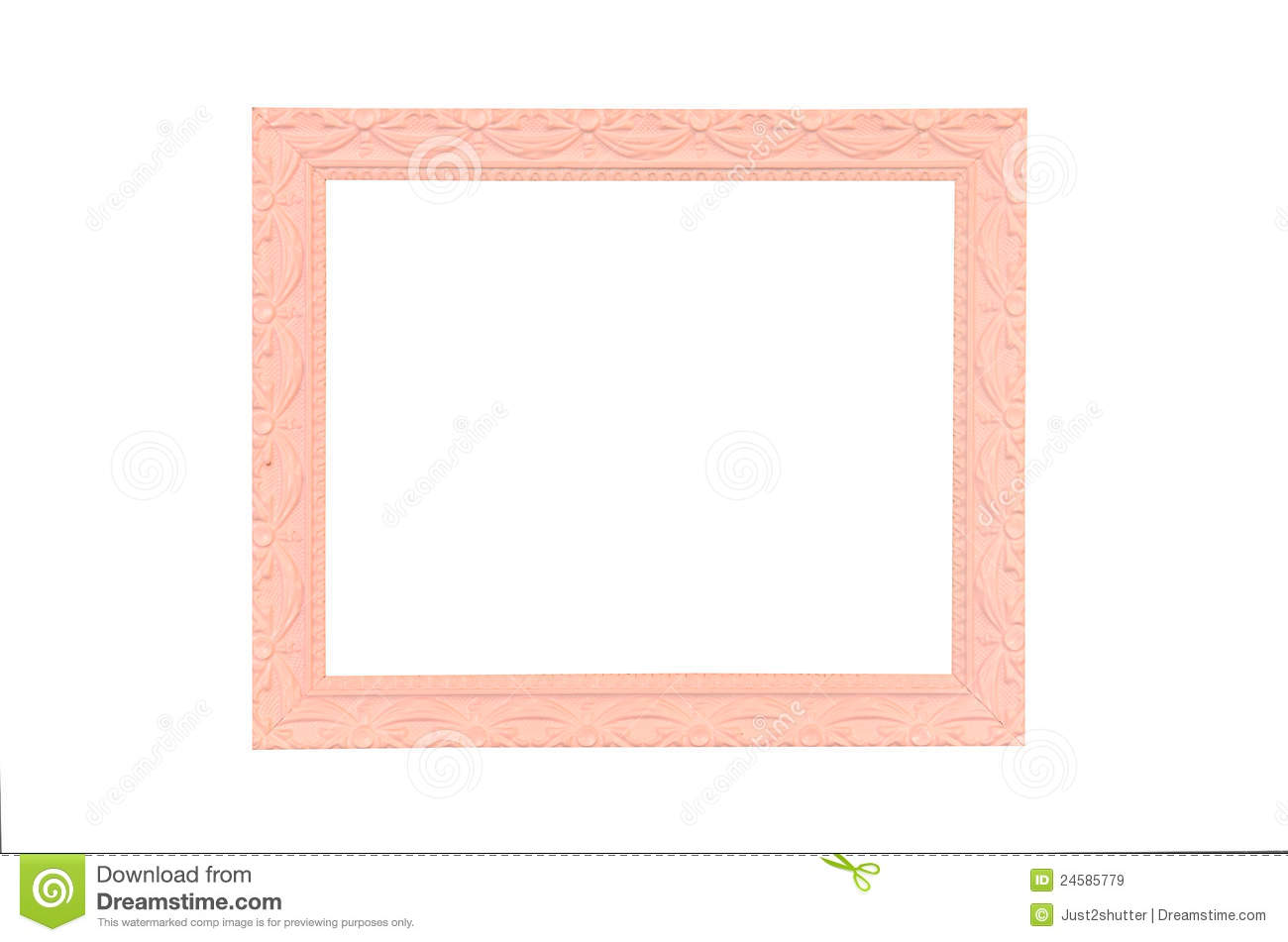 Vintage Pink Picture Frame Isolated On White Royalty Free Stock Images ...
