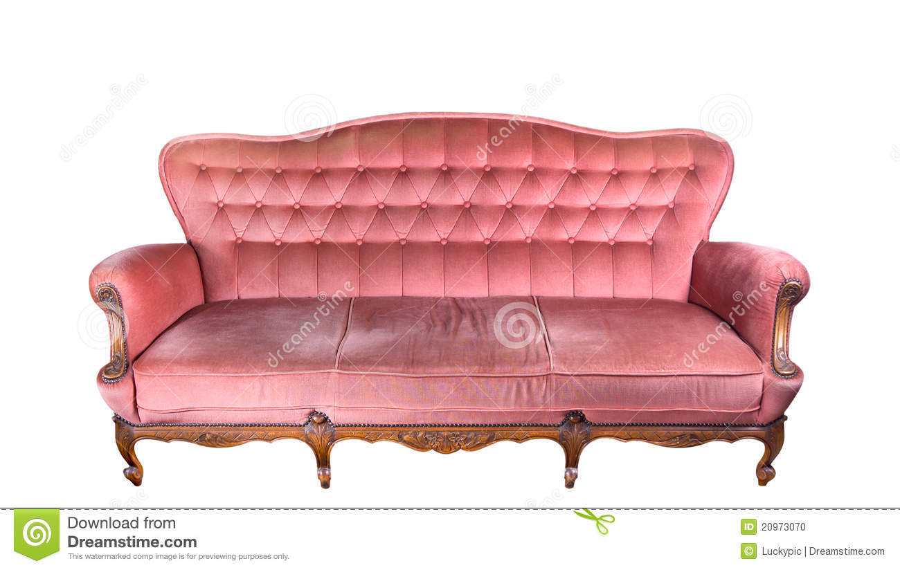 Vintage Pink Sofa Stock Photo Image 20973070