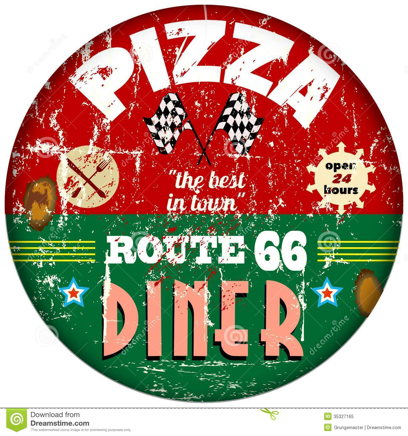 Vintage Pizza Sign Royalty Free Stock Photo - Image: 35327165