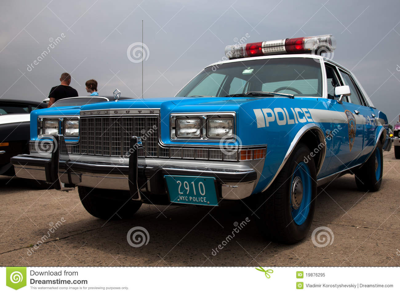 Vintage Plymouth Police Car Editorial Image Image Of