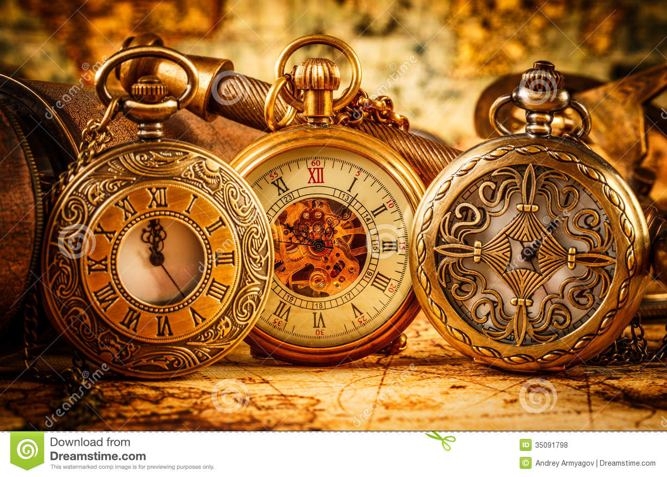 Vintage Pocket Watch Royalty Free Stock Photos Image