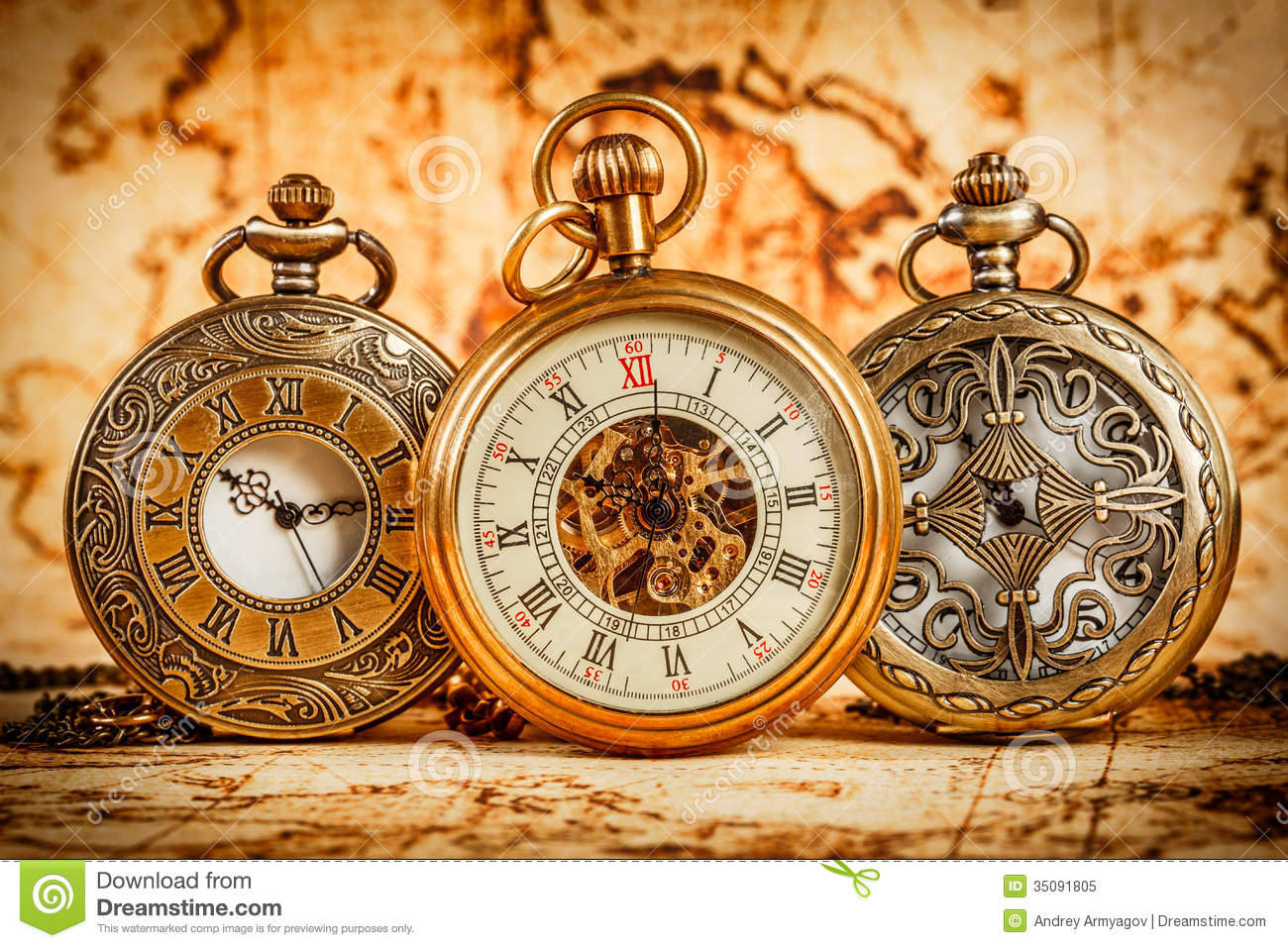 Vintage Pocket Watch Stock Image Image Of Aged Jewelry 35091805
