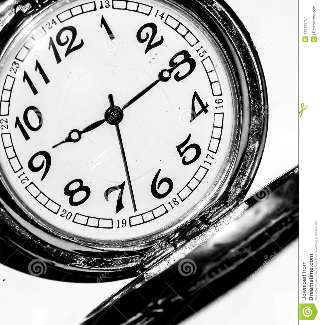 Beautiful Wallpaper Of Closeup Pocket Watch In Black And White Concept Time Flowing Object Retro Detail Little Clock