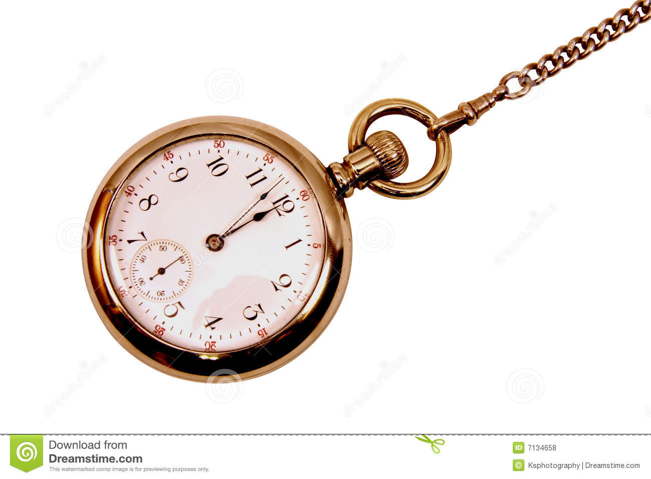 Vintage Pocket Watch On Chain Royalty Free Stock Photos ...