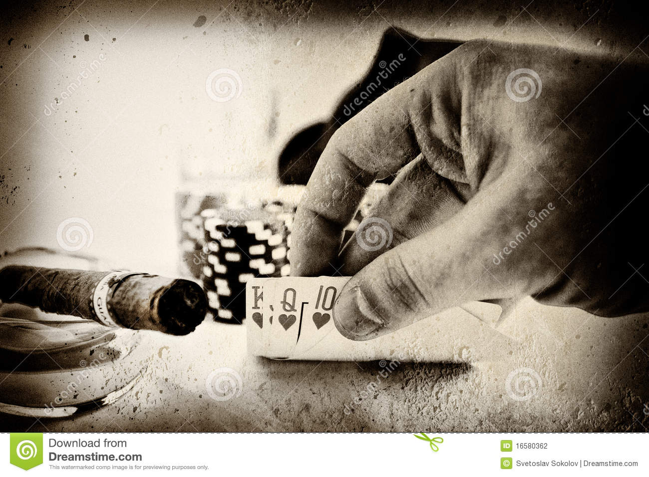 Vintage Poker Hand Stock Photography Image 16580362