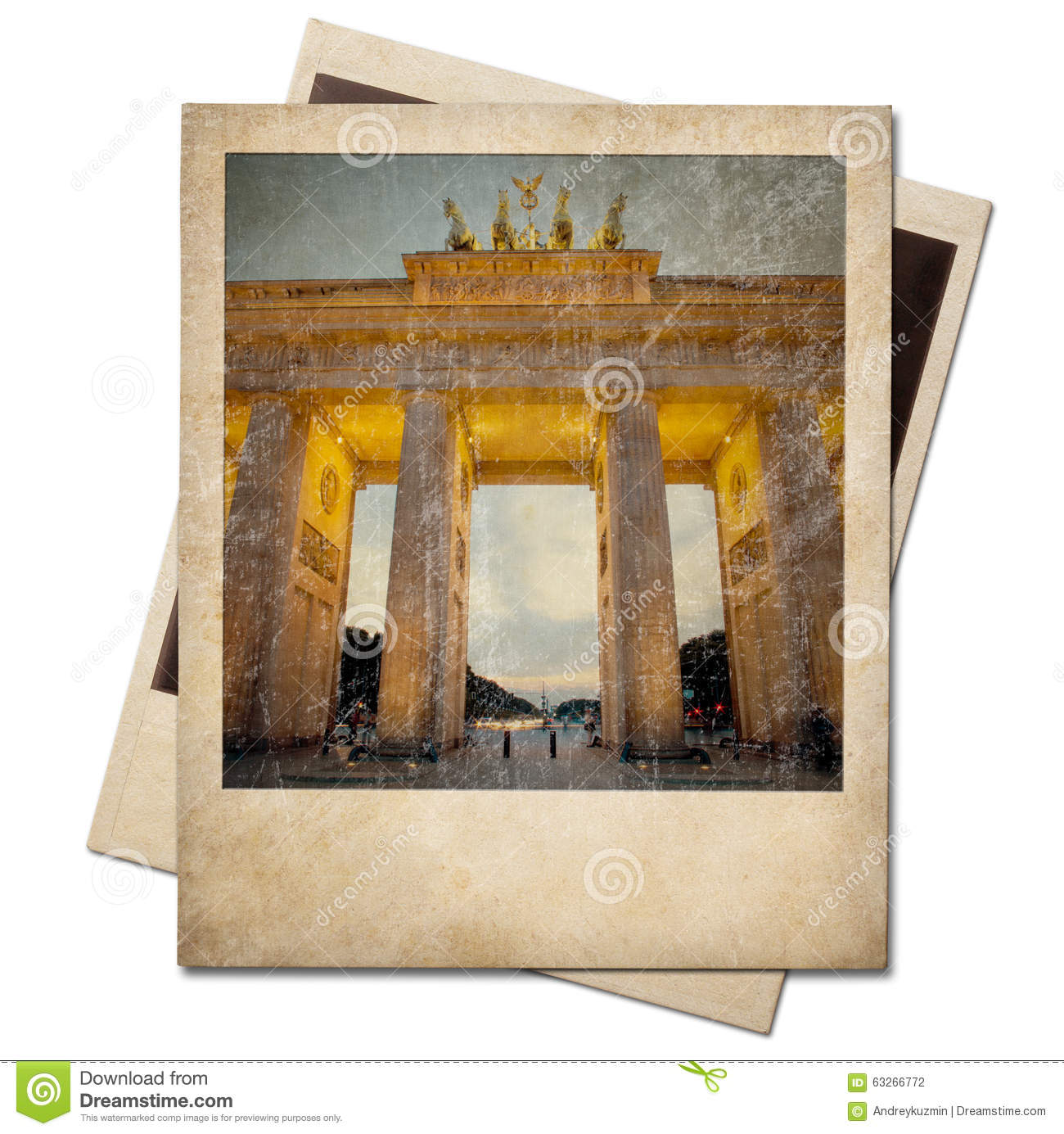 vintage polaroid berlin photo frame isolated stock photo image 63266772. Black Bedroom Furniture Sets. Home Design Ideas