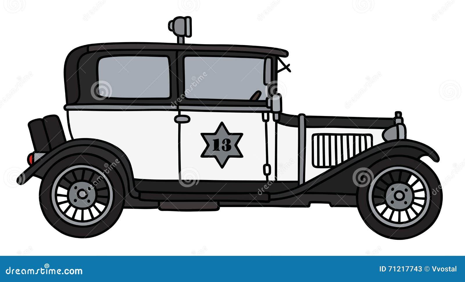 Vintage Police Car Stock Vector Illustration Of Star 71217743