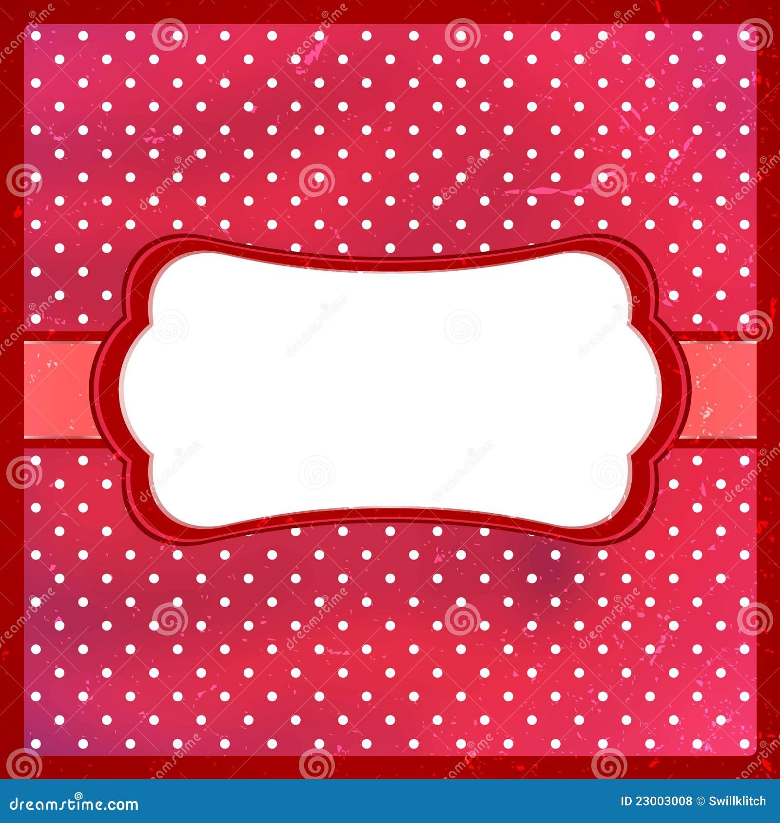 Red Polka Dot Border Clip Art