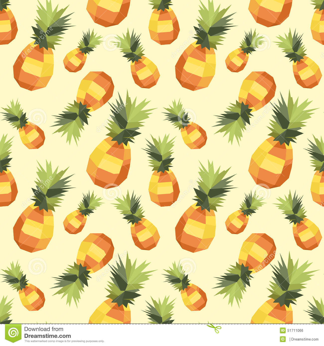 Vintage Polygon Pineapple Pattern Stock Vector - Image ...