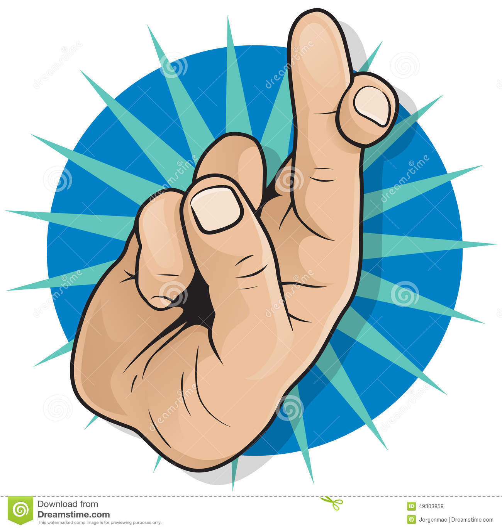 Vintage Pop Art Fingers Crossed Sign. Stock Vector - Image ...